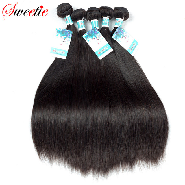 Sweetie Brazilian Hair Straight Human Hair Weave Extensions 1 Piece