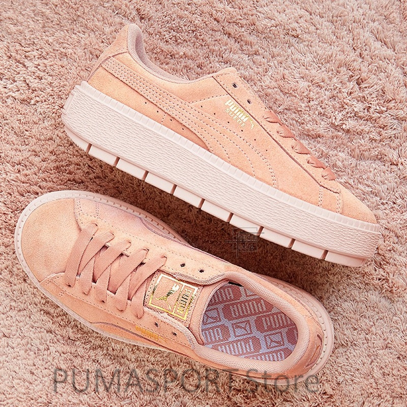 2018 New Arrival PUMA Platform Trace Creeper Suede Sneakers Women's Badminton shoes Size355-40