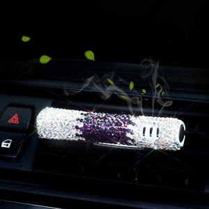 Image 3 - 1 pièces livraison directe voiture parfum voiture désodorisant diamant Auto climatiseur évent Clip Type bricolage ornement intérieur accessoires