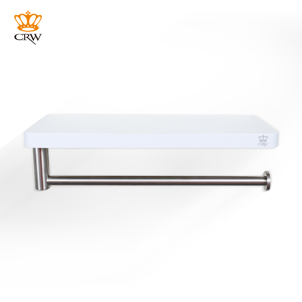 Crw Bathroom Storage Holder Shower Shelf With Towel Bar Abs Stainless Steel Asc03 In Shelves From Home Improvement On Aliexpress Alibaba