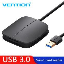 Vention tout en 1 lecteur de carte USB 3.0 lecteur de carte mémoire Multi USB pour TF pour SD pour CF pour MS adaptateur de carte Support 256G