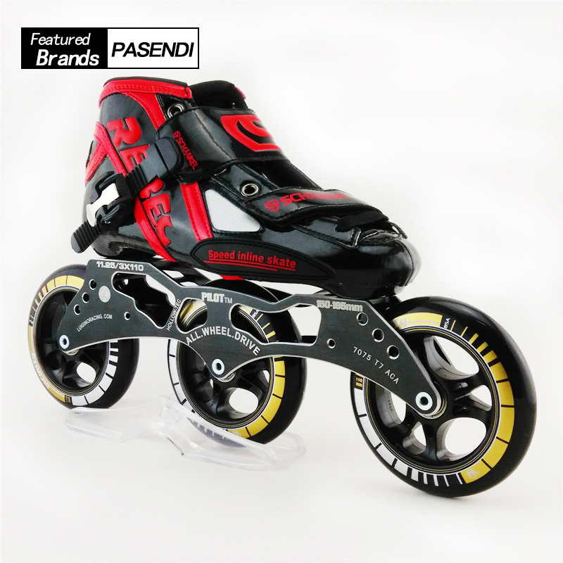 Professional Speed Inline Skating Men/Women Inline Speed Skates Patins Roller Shoes With 3X110mm