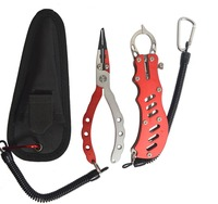 Aluminium 18cm 100g Fishing Pliers Aluminium Fish Lip Grapper Fishing Grip Tool With Lanyard 16cm 128g