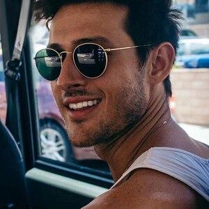 DJXFZLO Retro oval sunglasses