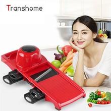 TRANSHOME Heiße Verkäufe Multifunktionale Einstellbare Spirale Manuelle Slicer Mandoline Hobel Cutter Potato Fries Obst Gemüse Werkzeuge