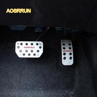 AOSRRUN Stainless steel accelerator pedals brake pedal Cover Car accessories For Suzuki vitara 2016 2017