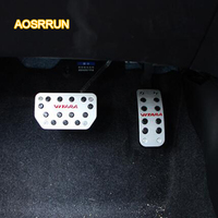AOSRRUN Stainless steel accelerator pedals brake pedal Cover Car accessories For Suzuki vitara 2016 2017