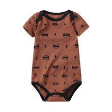 Baby Bodysuits Newborn Girl Summer Short Sleeve Clothes Cute Cartoon Fashion Style One-Pieces Infant Clothing
