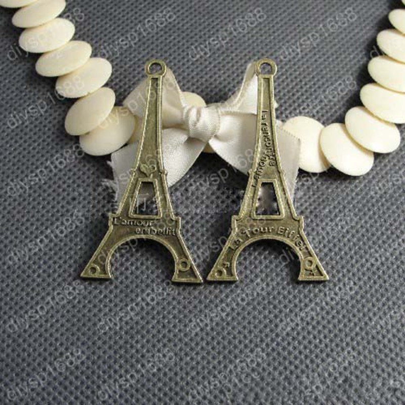 New 60*31mm 20pcs Home Decoration Eiffel Tower Metallic Model Bronze Iron Romantic House Office Decoration 011005019