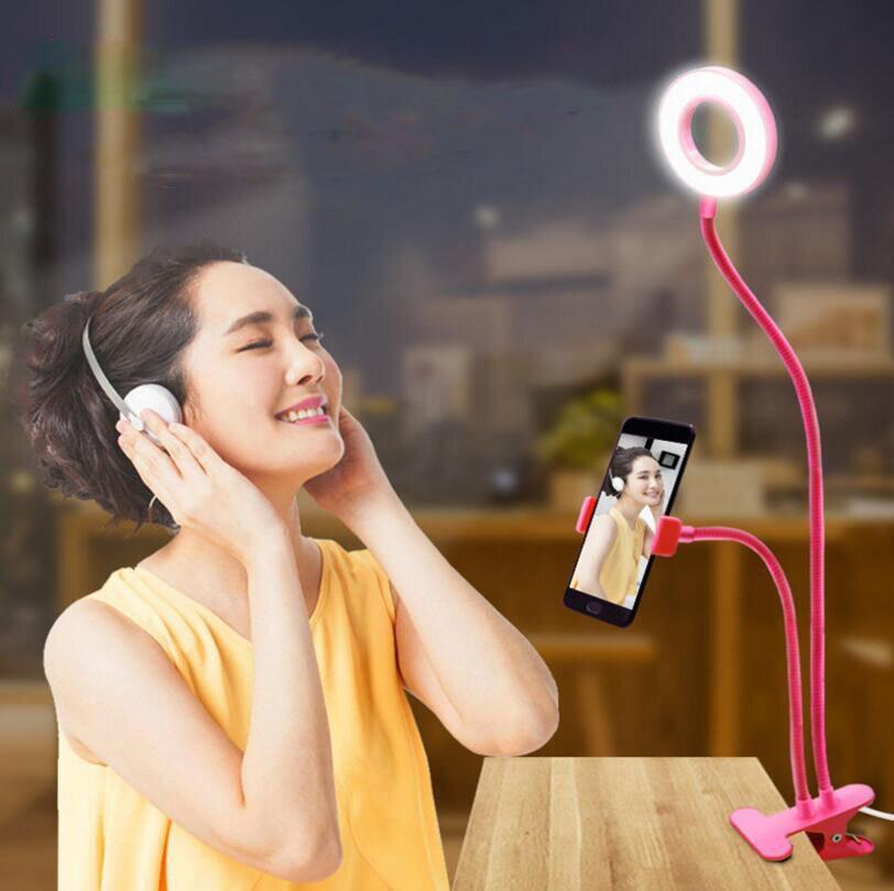 Светодиодная лампа для селфи с регулируемой яркостью, светодиодный светильник для селфи с кольцом, светодиодный светильник для селфи с рег