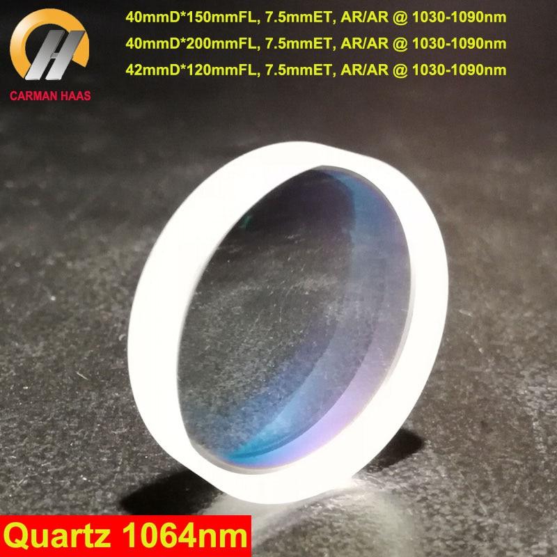 CARMANHAAS 1064nm Ball Lenses Fiber Focusing Lens Laser Focus Lens Diameter 40mm 42mm Quartz