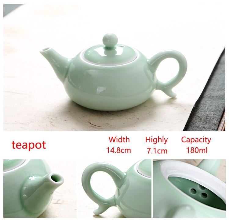 wholesaleaji me shumicë kineze Celadon vendos 6 copë çaji 1 copë - Kuzhinë, ngrënie dhe bar - Foto 2