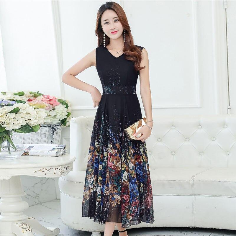 2018 nouvelle grande taille 4XL bohème robe d'été femmes imprimé longue robe à manches courtes bord de mer vacances ver à soie robe en soie - 6