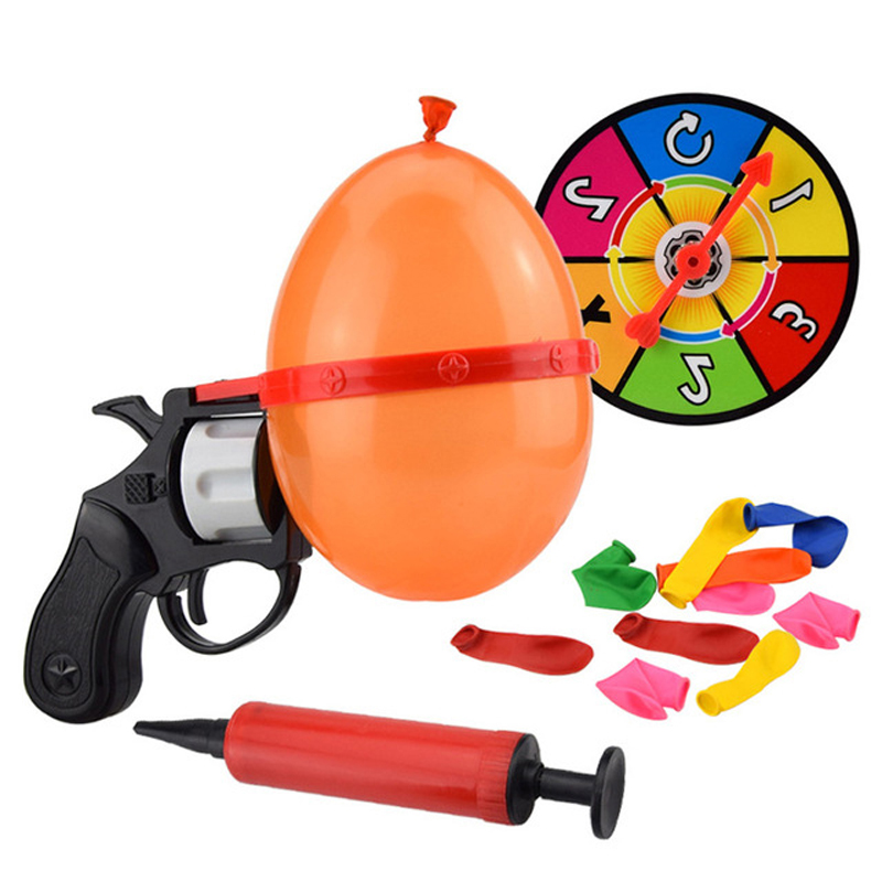 2019 Hot Sale Russian Lucky Roulette Balloon Gun Game Funny Gags Creative Toys For Kids Family Party Play Fun