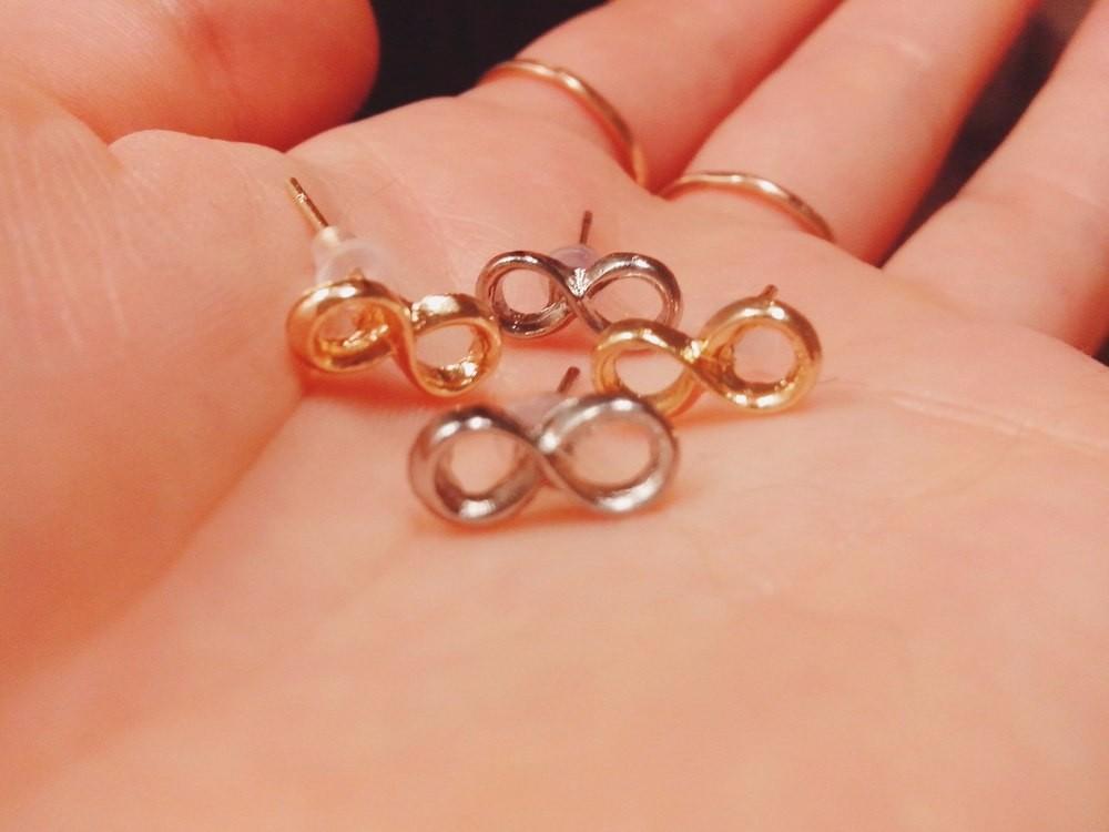 Tiny Infinity Earrings