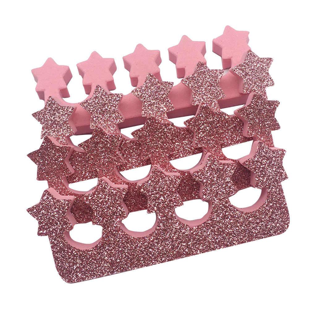 2018 nowa gwiazda 1 par różowy GlitterManicure narzędzia do paznokci i stóp opieki chiny materiał EVA do paznokci narzędzia artystyczne palec u nogi separatory