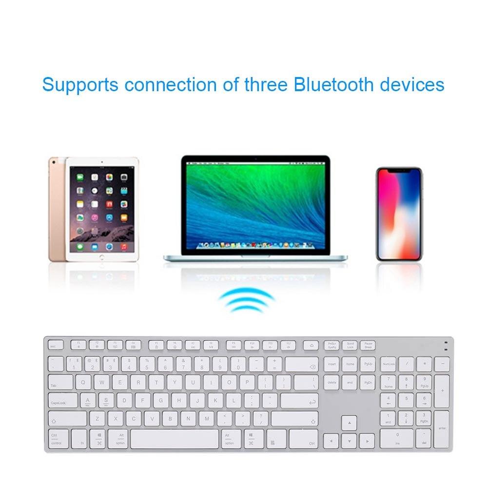 Alliage d'aluminium sans fil Bluetooth 3.0 clavier pour tablette ordinateur portable Support de téléphone iOS Windows système SL @ 88