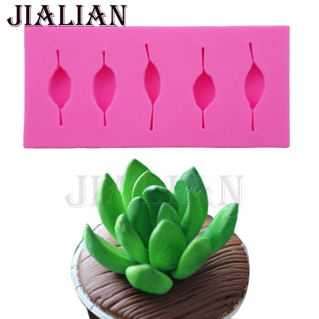 Silicone Mould 3D flowers succulent plants leaves baking Sugar Craft     Silicone Mould 3D flowers succulent plants leaves baking Sugar Craft Molds  Fondant DIY Cake Decorating tools