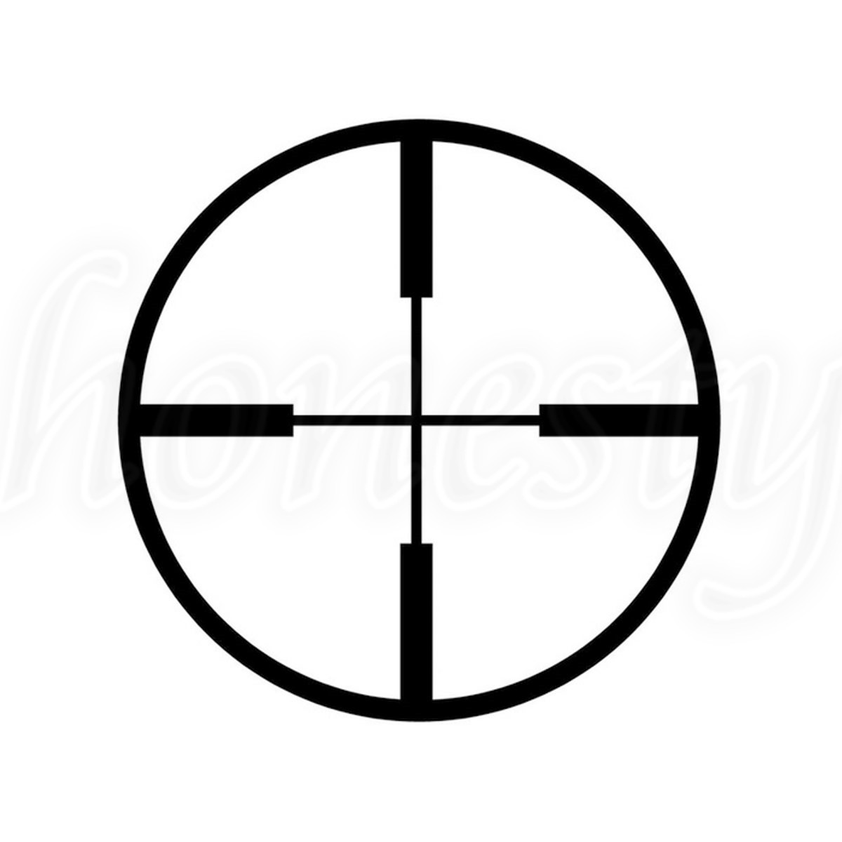 Shooting Font B Scope B Font Crosshairs Laptop Window Glass Truck Decor Car Font B Sticker