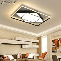Mavesan led ceiling lights for living room White frame Plafond home 10 25square meters Lightin fixtures lamparas de techo led