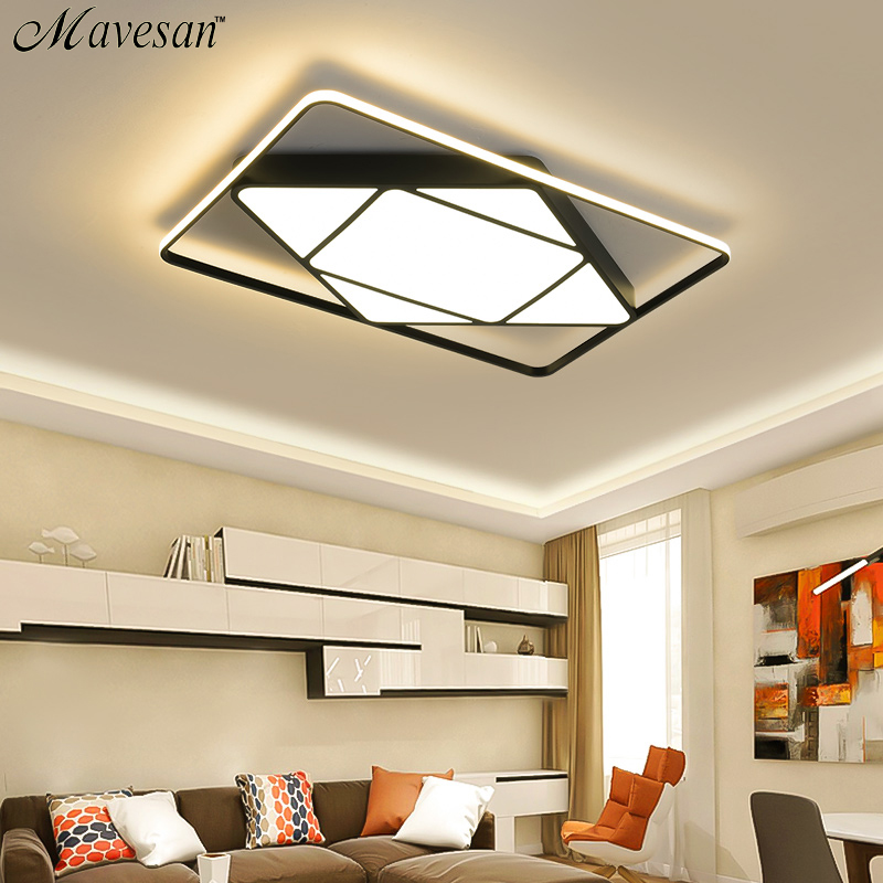 Mavesan led ceiling lights for living room White frame Plafond home 10-25square meters Lightin fixtures lamparas de techo ledMavesan led ceiling lights for living room White frame Plafond home 10-25square meters Lightin fixtures lamparas de techo led