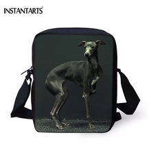 цена на INSTANTARTS Kawaii Animal Dog Greyhound Print Boys School Bags Casual Book Shoulder Bags for Kindergarten Students Kids Backpack