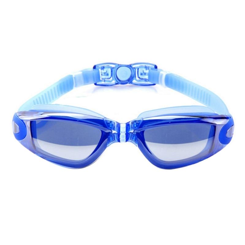 Women Men Swimming Eyewear Electroplated Plating Lens Anti-UV Waterproof Anti-fog Glasses Adult Googles