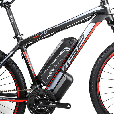 Ebike leistungsstarke 21 Geschwindigkeit Elektrische motorrad Disc Bremse 26 27,5 Zoll 38V10Ah Lithium-Batterie Hinten Stick Mountainbike