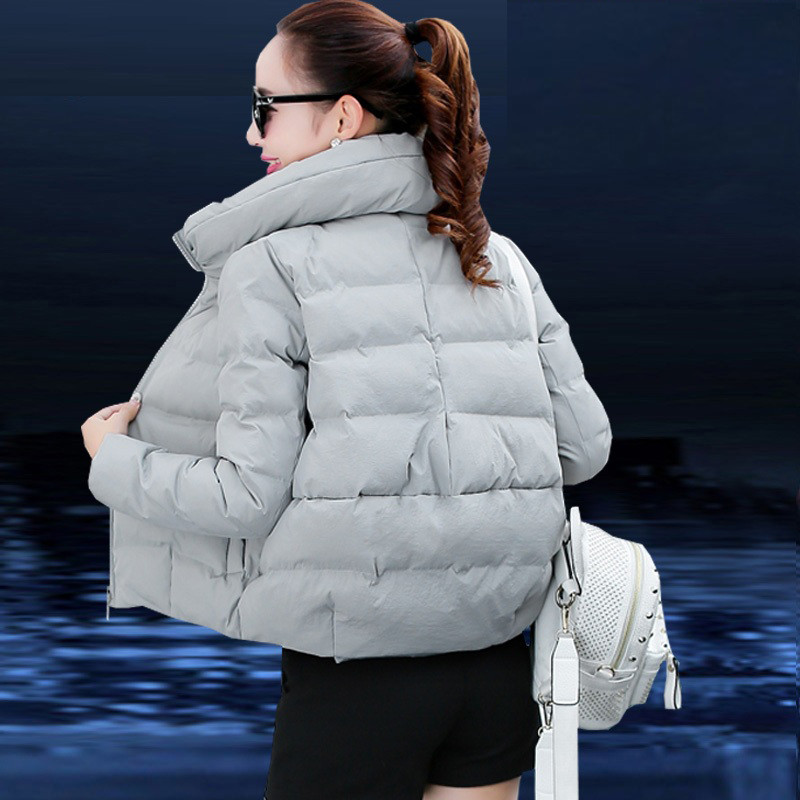 Short Cotton Parkas 2019 Winter Jacket Women Abrigos Mujer Stand Collar Outwear Wadded Padded Jacket Parkas
