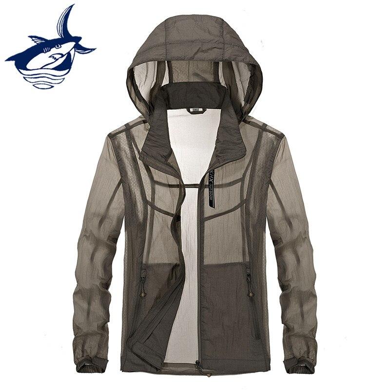 Tace & Shark брендовая летняя тонкая куртка мужская солнцезащитный крем анти солнцезащитные путешествия кожи куртка высокого качества быстросо...
