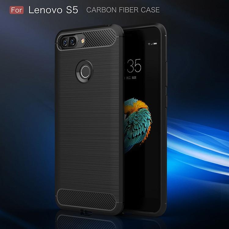 For Lenovo S5 Carbon Fiber Cover Anti Knock Silicone Soft TPU Brushed for Lenovo S5 K520 K8 NOTE Z5 Case
