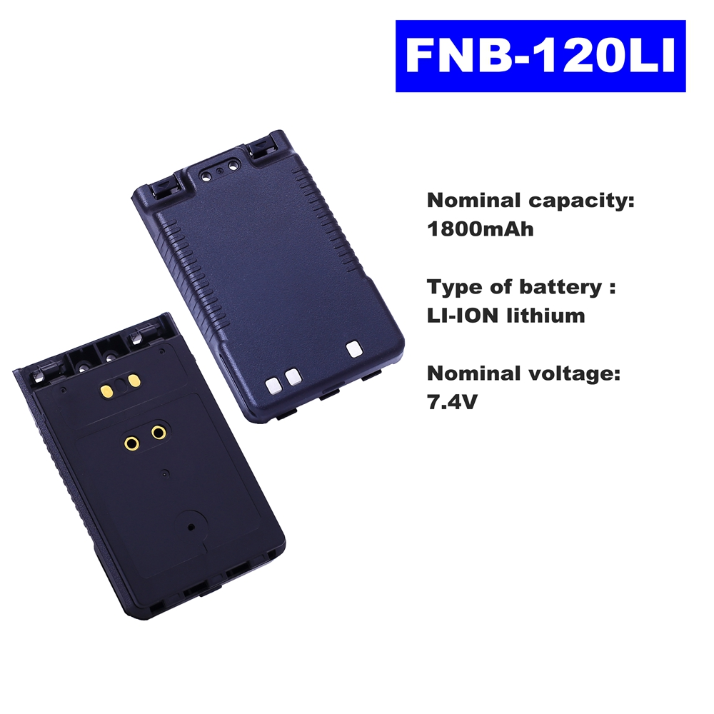 7.4V 1800mAh LI-ION Radio Battery FNB-102LI For Vertex Standard Walkie Talkie VX-8R/8DR/8GR FT-1DR Two Way Radio