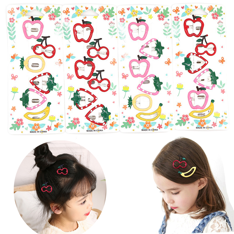 Cute Fruit Baby Hair Clips For Girls Hair Accessories Pineapple Hairpins Cartoon   Headwear   Kids Children BB Hairclip Headdress