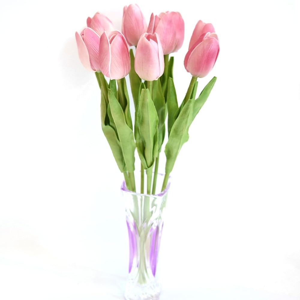 PU Latex Real Touch Fake Flower In Bulk 13.7\u002639;\u002639;Mini Artificial Tulip Flowers Wholesale 100 Pcs