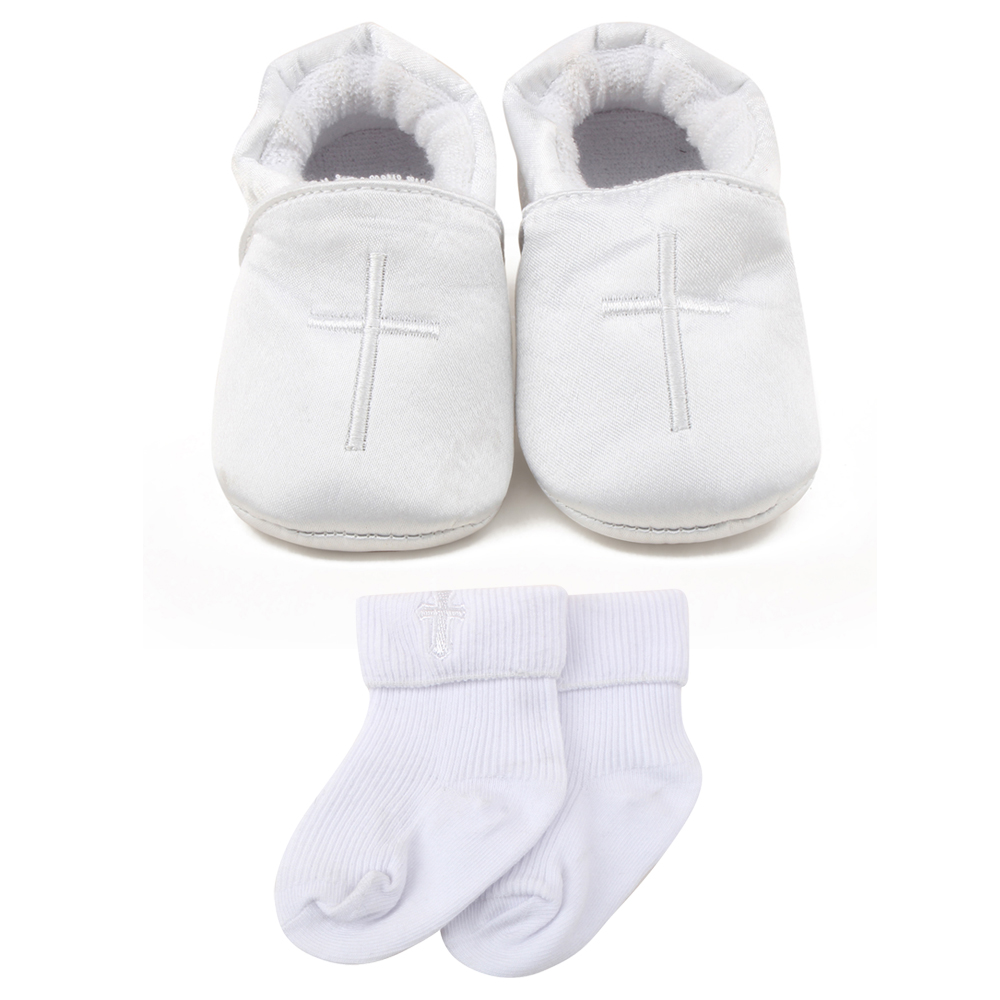 Delebao 2017 New Design  Lies Lace-up Holy White Purple Baby Christen & Baptism Shoes