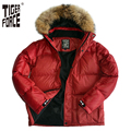 TIGER FORCE 2016 High Quality Men White Duck Down Jacket Winter Fashion Down Coat With Raccoon Fur Collar Free Shipping D-234F
