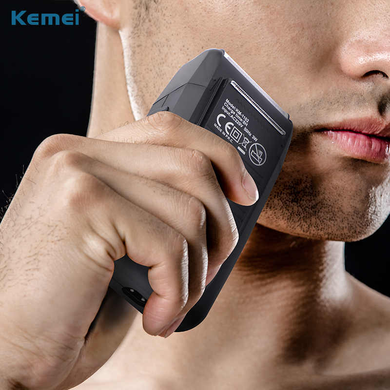 Image 4 - Kemei Rechargeable Two Blades electric Shaver Razor Men hair clipper hair Trimmer Beard shaving machine for men-in Electric Shavers from Home Appliances