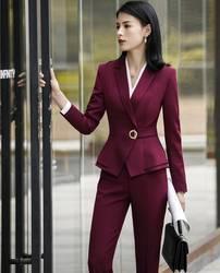 Модные Коктейльное платье конструкции брючные костюмы с топы и штаны комплекты для Для женщин Бизнес костюмы женские офисные брючный