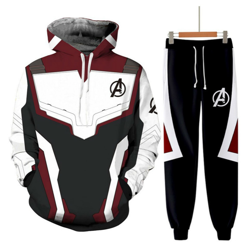 Avengers Endgame Quantum Realm Sweatshirt Jacket Advanced Tech Hoodie Cosplay Costumes Superhero T-Shirts Iron Man Hoodies Pant
