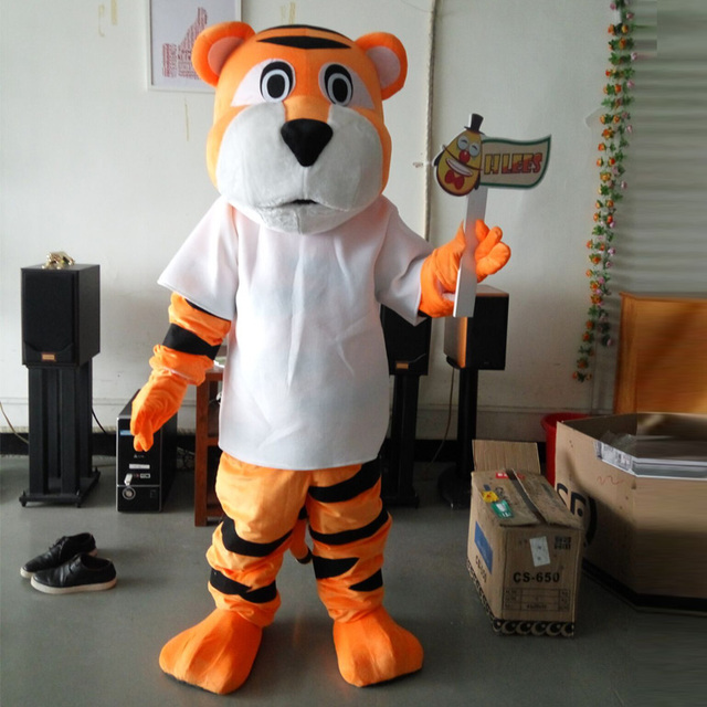 ohlees memphis tiger cartoon character mascot costumes halloween christmas birthday party dress costume real pictures