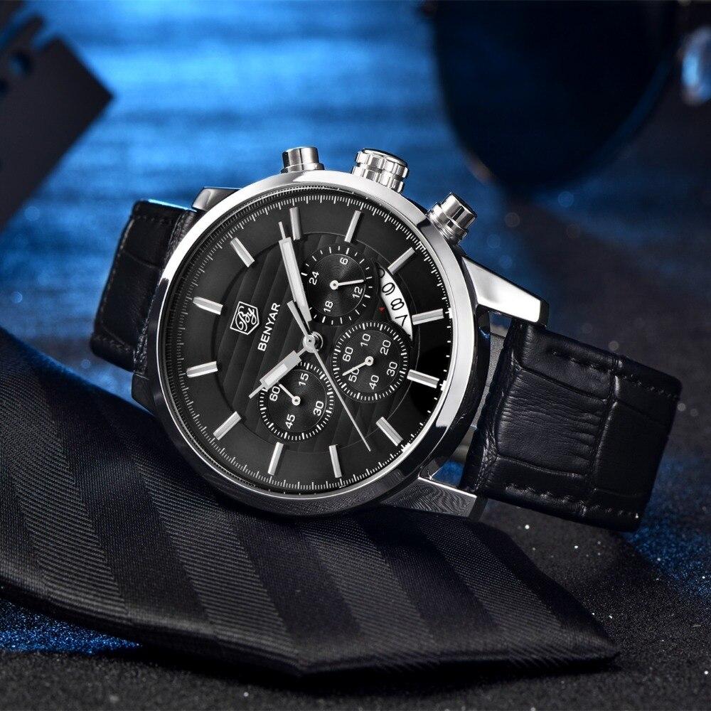 BENYAR Fashion Stainless Steel Chronograph Sports Mens Watches Top Brand Luxury Quartz Business Watch Clock Relogio Masculino Islamabad