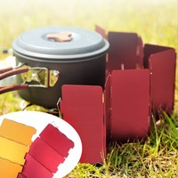 Foldable 9 Plates Cooker BBQ Gas Stove Wind Shield Screen Picnic Outdoor Folding Camping Cooker Stove