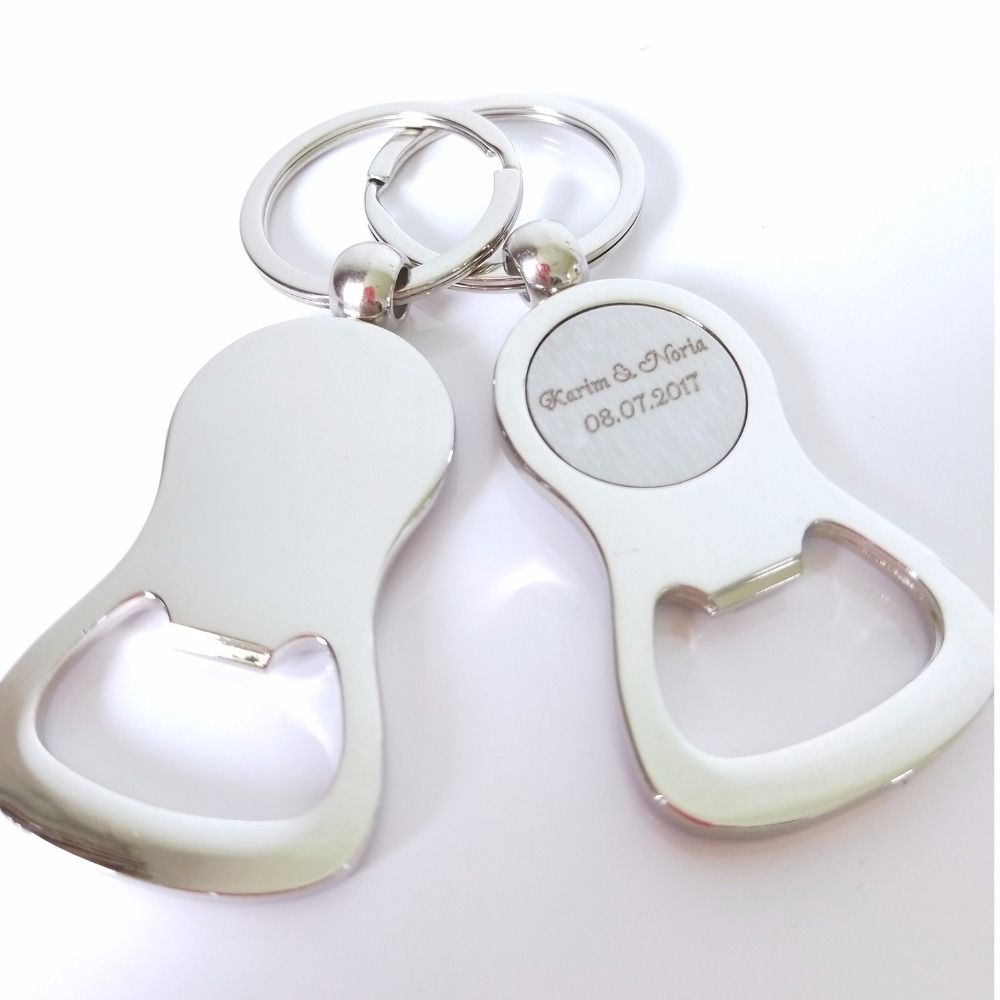 50Pcs/Lot Personalized Bottle Opener Keychain Favor,Metal Custom ...