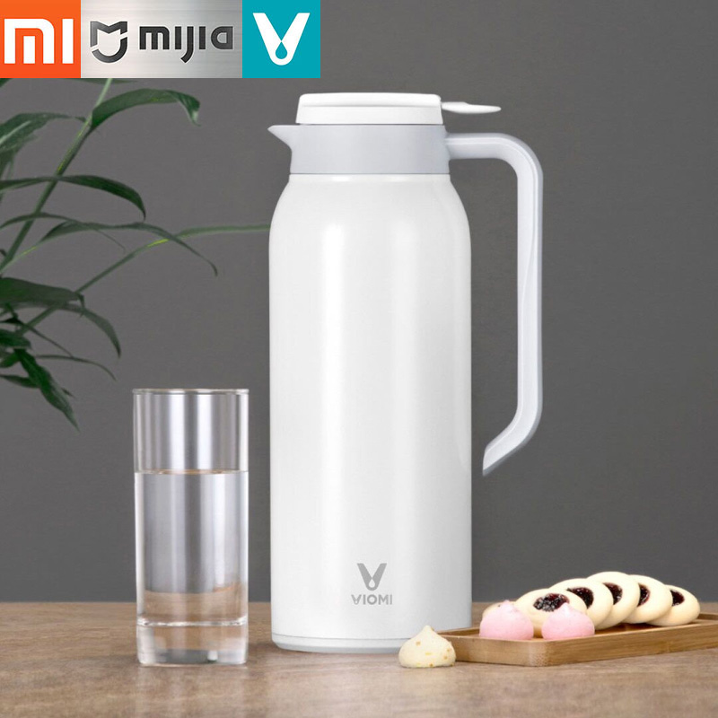 Original Viomi Vacuum Kettle Xiaomi Mijia 1500ML Flask Insulation Thermo Cup Stainless Steel Vacuum Water Bottles Thermo Kettle-in Water Bottles from Home & Garden    1