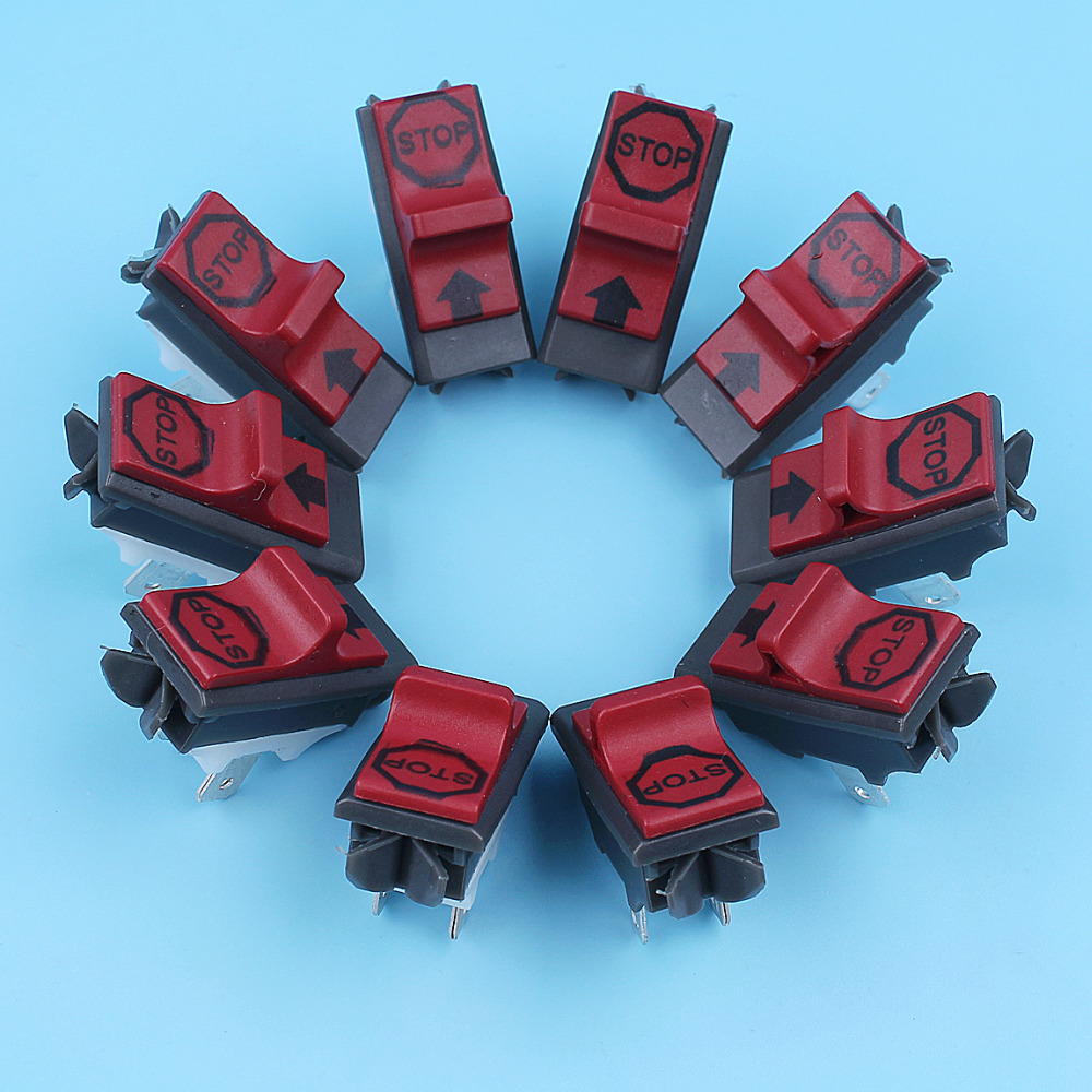 On Off Kill Start/Stop Switch For Husqvarna 365 371 372 336 385 390 JONSERED 2063 2065 2165 2071 2171 Chainsaws 10pcs