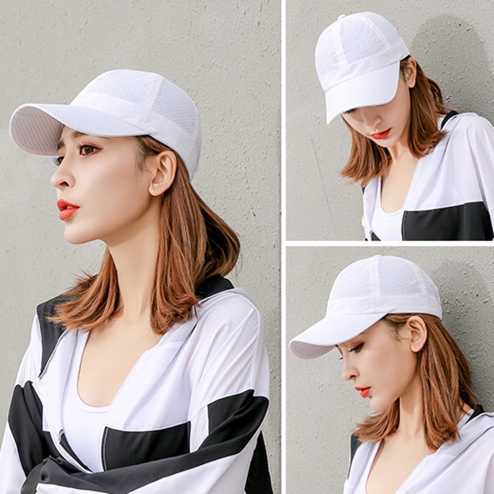 Summer Breathable Mesh   Baseball     Cap   Men Women Sport Hats Solid Unisex Casual Women's Girls Sports sun   baseball   hats