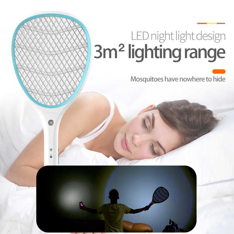 YAGE elektryczna packa na komary przeciw komarom mucha odstraszający robaków odstraszacz owadów odrzuć zabójców Pest Control rakieta pułapka Home Tool