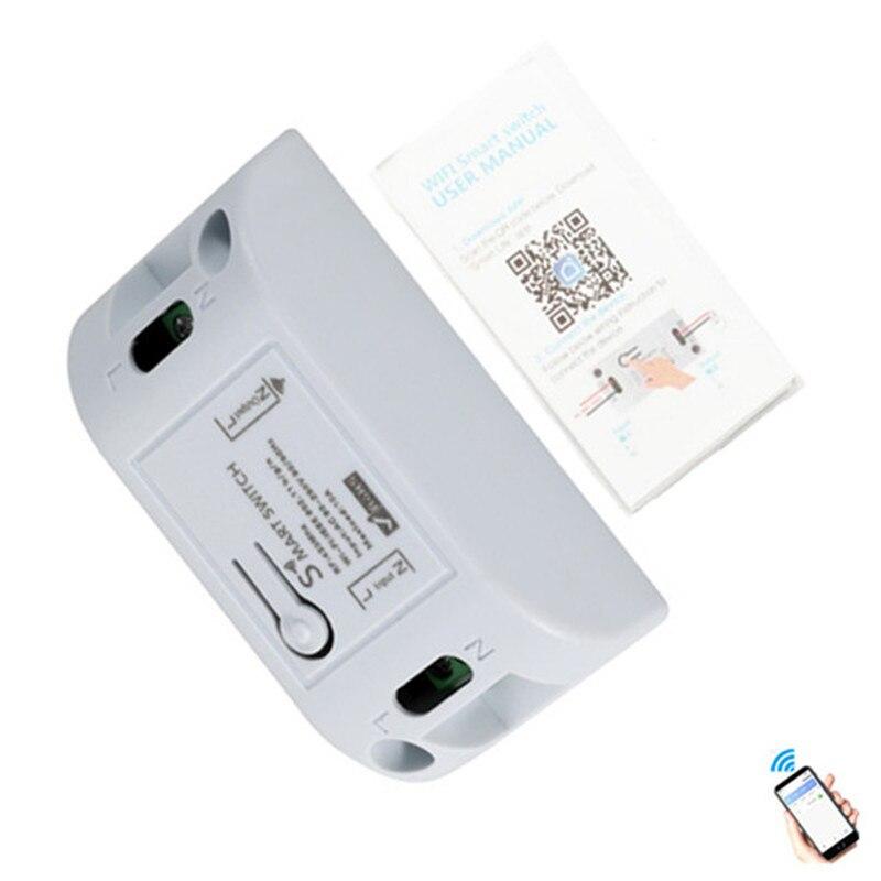 Wi-fi sem fio Interruptor de Controle Remoto Módulo de Automação Temporizador DIY Universal Smart Home 10A110V 220 V Cooperação com Alexa