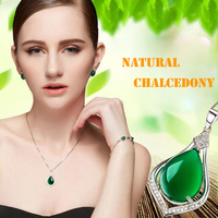 925 Sterling Silver Jewelry Korean Korean Fashion Sweater Chain Necklace Carnelian Silver Jewelry
