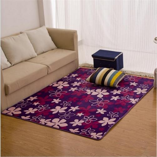 Velvet Soft Rugs In Natural Beige: 1PC Coral Velvet Soft Carpet Area Rug Slip Resistant Door